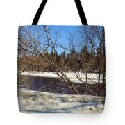 River Through The Branches Tote Bag