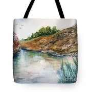 River Through The Hills Tote Bag