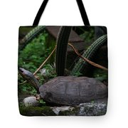 River Turtle 1 Tote Bag