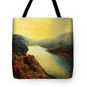 River Valley Sunrise Tote Bag