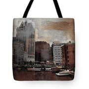 River View Aged Tote Bag
