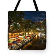 A Night On The River Walk Tote Bag