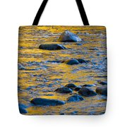 River Water And Rocks Tote Bag