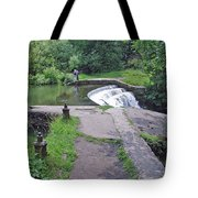 River Wye Weir Tote Bag