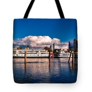 Riverboats Of Sacramento Tote Bag