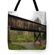 Riverdale Road Covered Bridge Tote Bag