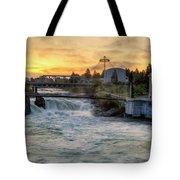Riverfront Park Sunrise Tote Bag