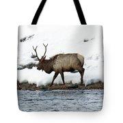 Riverside Elk Tote Bag