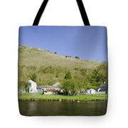 Riverside Setting At Monsal Dale Tote Bag