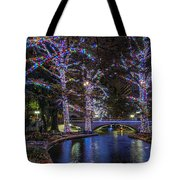 Riverwalk Christmas Tote Bag