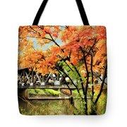 Riverwalk Covered Bridge Tote Bag