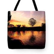 Riverwalk Sunrise  Tote Bag