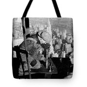 Riveters On The Empire State Building Tote Bag