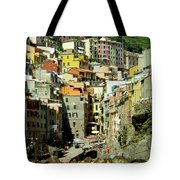 Riviera Hill Town Italy Tote Bag