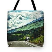 Road Alaska Bicycle  Tote Bag