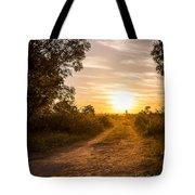 Road In Botswana Tote Bag