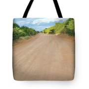 Road In Tanzania Tote Bag