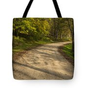 Road In Woods Autumn 3 A Tote Bag