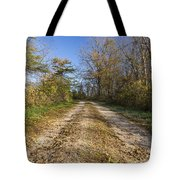 Road In Woods Autumn 4 A Tote Bag