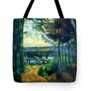 Road Leading To The Lake, By Paul Cezanne, Circa 1880, Kroller-m Tote Bag