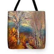 Road Line - Tuscany Tote Bag