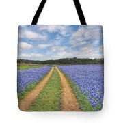 Road Of Bluebonnets  Tote Bag