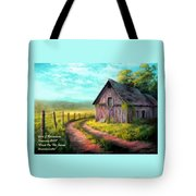 Road On The Farm Haroldsville L A Tote Bag