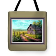 Road On The Farm Haroldsville L A With Decorative Ornate Printed Frame.  Tote Bag