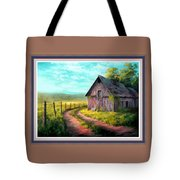 Road On The Farm Haroldsville L B With Alt. Decorative Ornate Printed Frame.   Tote Bag
