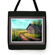 Road On The Farm Haroldsville L B With Decorative Ornate Printed Frame. Tote Bag