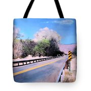 Road Over The Wash Tote Bag