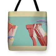 Road Runner Back Drop Tote Bag