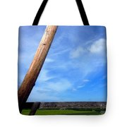 Road Side View Of Countryside Tote Bag