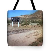 Road Sign To The Sky Tote Bag