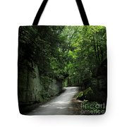 Road Through The Forest Gorge Tote Bag