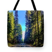 Road Through The Forest Tote Bag