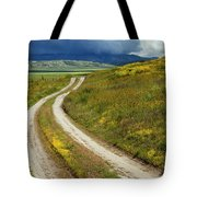 Road Through The Wildflowers Tote Bag
