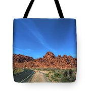 Road Through Valley Of Fire  Tote Bag
