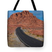Road Through Valley Of Fire, Nv Tote Bag
