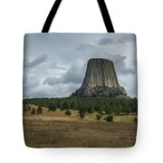 Road To Devils Tower Panorama Tote Bag