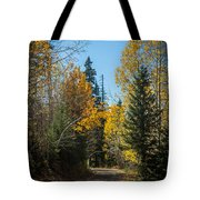 Road To Fall Colors Tote Bag