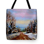 Road To Knowlton Quebec Tote Bag