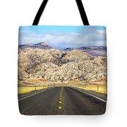 Road To Owl Creek Mountains Wyoming Tote Bag
