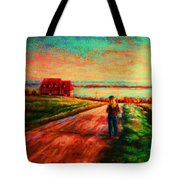 Road To Red Gables Tote Bag
