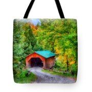 Road To The Covered Bridge Tote Bag