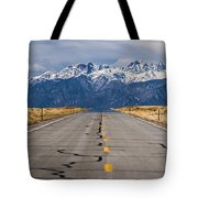 Road To The Mountains Panorama Tote Bag