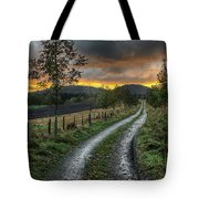 Road To The Sunset Tote Bag