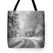 Road To Winter Tote Bag