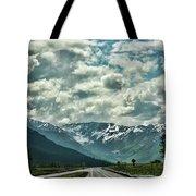 Road Travel Alaska Color  Tote Bag