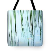 Roadside Cattails Abstract Tote Bag